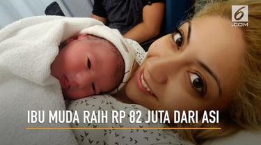 Seorang Ibu muda, Rafaela Lamprou meraih keuntungan Rp. 82 Juta dari berjualan ASI ke binaraga berbagai negara.