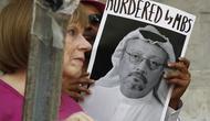 Foto Jamal Khashoggi, wartawan Arab Saudi yang dibunuh di Istanbul (AP/Jacquelyn Martin)