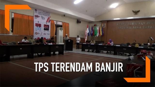 150 TPS terendam banjir di Kabupaten Bandung dan Indramayu. KPU Jawa Barat akan lakukan relokasi.