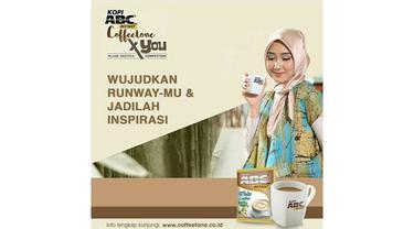 Kreasi Hijab Berkarakter dengan Warna Coffeetone ala Dian Pelangi