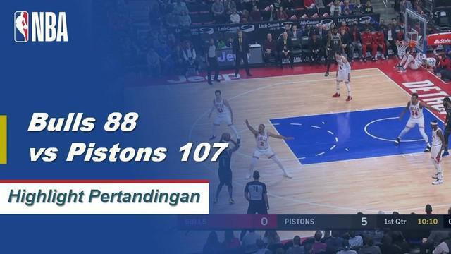 Blake Griffin mencetak 20 poin, Andre Drummond menambahkan 19 poin dan 20 rebound mengalahkan Bulls