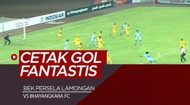 Berita video momen gol fantastis bek Persela Lamongan, Mochammad Zaenuri, ke gawang Bhayangkara FC dalam lanjutan Shopee Liga 1 2019, Rabu (26/6/2019).