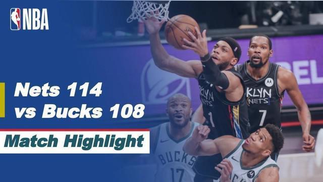Berita video highlights game 5 semifinal wilayah timur NBA Playoffs 2021 antara Brooklyn Nets melawan Milwaukee Bucks yang berakhir dengan skor 114-108, Rabu (16/6/2021) pagi hari WIB.