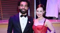Mohamed Salah saat berfoto bareng salah satu bintang Game of Throne, Emilia Clarke (AFP)