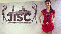 Sasikirana Zahrani pada Ajang Johor Ice Skating Challenge 2019 (dok.Instagram@bu_deedee/https://www.instagram.com/p/Bz0NbaTBCHI//Devita Nur Azizah