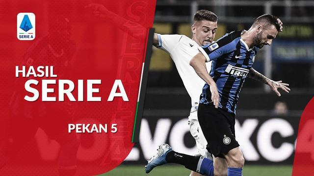 Berita video hasil Serie A 2019-2020 pekan ke-5. Intermilan kalahkan Lazio 1-0, Juventus bungkam Brescia 2-1.