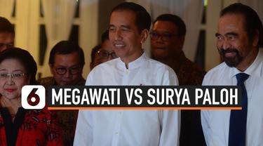 Panas dingin hubungan Ketum PDIP Megawati Soekarnoputri dan Ketum NasDem Surya Paloh sepertinya bukan sekadar isu. Momen dinginnya hubungan kedua ketum itu tertangkap kamera di momen pelantikan anggota DPR/MPR, Selasa (1/10/2019).