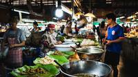 Ilustrasi pasar makanan laut (dok.unsplash/ Zach Inglis)