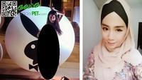 Mantan model majalah dewasa Playboy, Felixia Yeap ini berikrar masuk Islam tahun 2014.