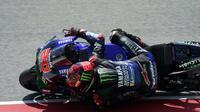 Fabio Quartararo saat mengaspal di Sirkuit Mugello dalam rangkaian MotoGP Italia. (Twitter Monster Energy Yamaha MotoGP)