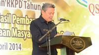 Ketua Harian Badan Koordinasi Penataan Ruang Daerah Provinsi Jawa Barat, Denny Juanda memaparkan tentang perizinan di Kawasan Bandung Utara.