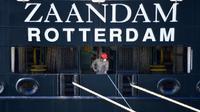 Kapal pesiar Zaandam. (dok. Foto CHANDAN KHANNA / AFP)