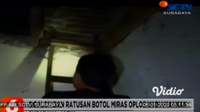 Polisi menggerebek sebuah gudang di Jalan Bronggalan Sawah gang V, Tambaksari yang dijadikan tempat memproduksi miras oplosan jenis cukrik. Dari dalam gudang, polisi mengamankan barang bukti ratusan botol cukrik yang siap edar.