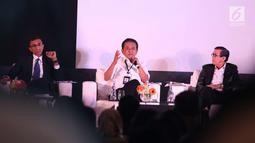 Mantan wakil ketua KPK Chandra M. Hamzah saat berbicara dalam AHP Business Law Forum 2018 di Jakarta, Selasa (24/4). Forum ini membahas revitalisasi hukum ekonomi dan mekanisme penyelesaian sengketa bisnis di Indonesia. (Liputan6.com/Angga Yuniar)