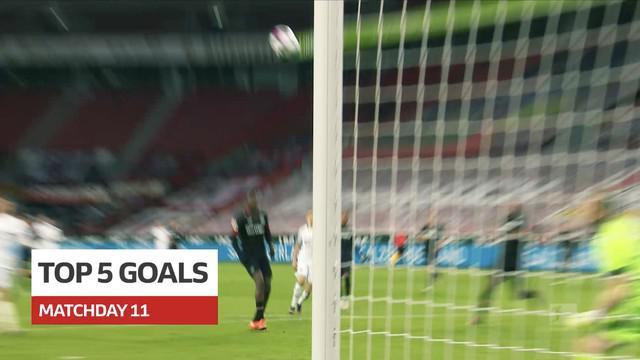 Berita video gol-gol terbaik pada pekan ke-11 Bundesliga 2020/2021, termasuk torehan indah bintang Bayer Leverkusen, Leon Bailey.