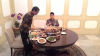 Presiden Jokowi dan Zulkifli Hasan (Liputan6.com/ Ahmad Romadoni)