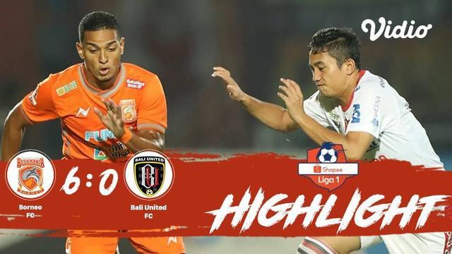 Laga lanjutan #ShopeeLiga1, #BorneoFC vs #BaliUnited pada hari Jumat sore (18/10/2019) berakhir  dengan skor 6-0.