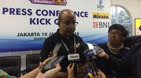 Hanny Surkatty beri penjelasan soal Proliga 2018 (Liputan6.com/Muhammad Adi Yaksa)