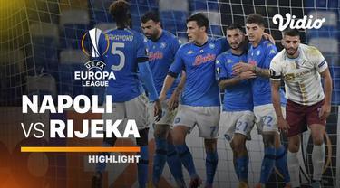 Berita video highlights Liga Europa, Napoli raih 3 angka lawan Rijeka dan persembahkan kemenangan untuk Diego Maradona