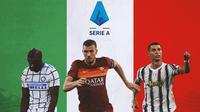 Serie A - Romelu Lukaku, Edin Dzeko, Cristiano Ronaldo (Bola.com/Adreanus Titus)