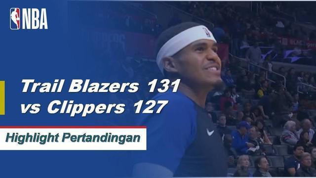 Damian Lillard mencetak 39 poin dan enam assist saat Trail Blazers menang atas Clippers, 131-127.
