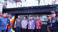 Gibran di Medan buka Markobar (Liputan6.com/Reza Perdana)