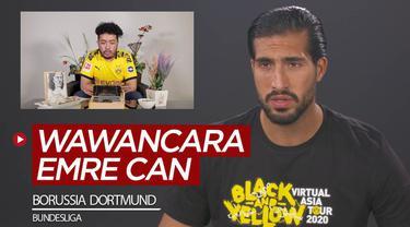 Berita video wawancara eksklusif Bola.net dengan Emre Can soal wonderkid Borussia Dortmund hingga peluang juara di Bundesliga musim 2020-2021.