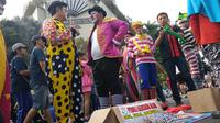 Galang Dana untuk Korban Gempa Palu di CFD. (Liputan6.com/Nafiysul Qodar)
