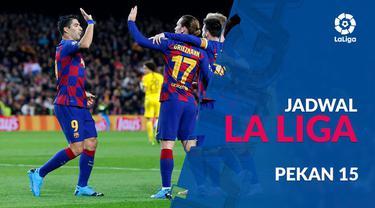 Berita video jadwal La Liga 2019-2020 pekan ke-15. Atletico Madrid hadapi Barcelona, Senin (2/12/2019) di Stadion Wanda Metropolitano, Madrid.