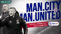 Piala Liga Inggris: Manchester City vs Manchester United. (Bola.com/Dody Iryawan)