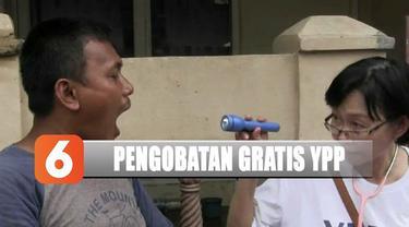 YPP SCTV-Indosiar memberikan bantuan pengobatan gratis untuk warga di perumahan Priuk Jaya Permai, Tangerang.