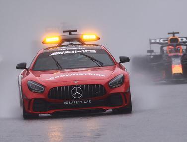 Foto: Digelar Sangat Singkat, Balapan Formula 1 GP Belgia Hanya Berjalan Dua Lap