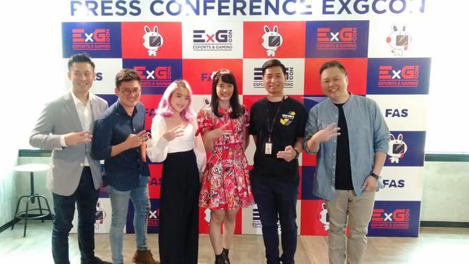 Esports Gaming Convention (EXGCon) menggelar sebuah kompetisi akbar yang pertama kali hadir di Indonesia. (Liputan6.com/Cakrayuri)
