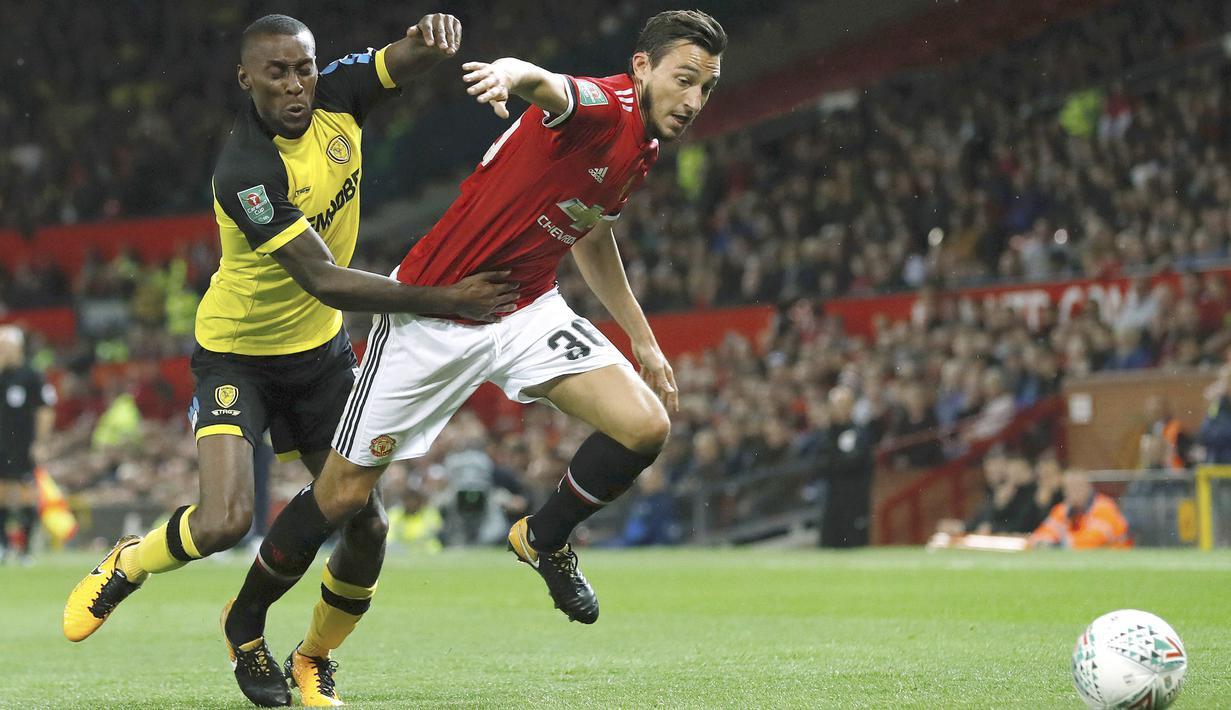 FOTO Marcus Rashford Gemilang Manchester United Menang