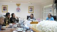 Pertemuan Kemenpora dengan PSSI. (PSSI).