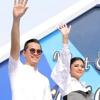 Rionaldo Stockhorst dan Naysila Mirdad di meet and greet sinetron Orang Ketiga. (Deki Prayoga/Bintang.com)