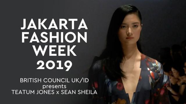 Jakarta Fashion Week 2019 diisi dengan peragaan busana Teatum X Sean Sheila persembahan British Council. Menariknya para penyandang disabilitas ikut tampil di runaway.