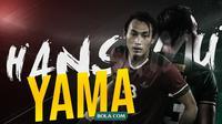 Pemain Persebaya dan Timnas Indonesia, Hansamu Yama.. (Bola.com/Dody Iryawan)