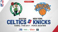 Jadwal NBA, Boston Celtics Vs New York Knicks. (Bola.com/Dody Iryawan)