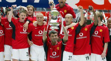 Roy Keane adalah seorang legenda hidup dan salah satu pemain tengah terbaik yang pernah dimiliki Manchester United. (AFP/Nick Potts)