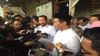 Menteri Pertanian Amran Sulaiman bersama Direktur Utama Perum Bulog Budi Waseso meninjau pasokan dan harga beras (Foto:Merdeka.com/Yayu Agustini)