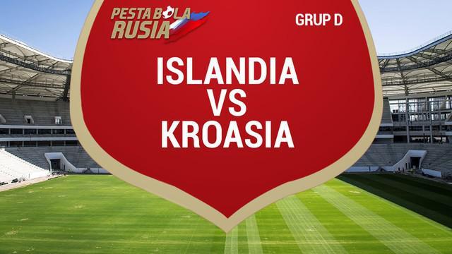 Berita video catatan data dan statistik Kroasia saat mengalahkan Islandia 2-1 di Grup D Piala Dunia 2018.