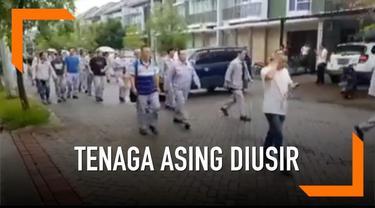Sebuah video beredar di media sosial, saat tenaga kerja asing dari Tiongkok diusir oleh warga.