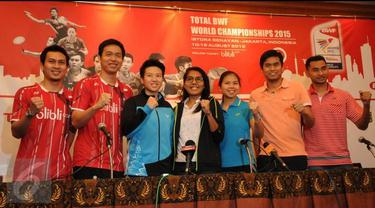 Konfrensi Pers Kontingen Bulutangkis Indonesia Jelang Kejuaraan Dunia 2015