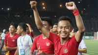 Sani Riski Fauzi puas bisa menjawab kesempatan yang diberikan Indra Sjafri dengan penampilan terbaik bersama Timnas Indonesia U-22. (Bola.com/Zulfirdaus Harahap)