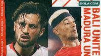 Shopee Liga 1 - Bali United Vs Madura United - Duel Pemain (Bola.com/Adreanus Titus)