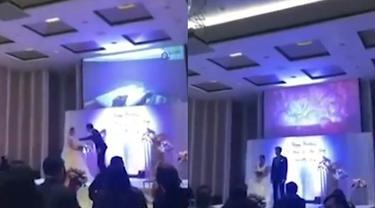 Kesal, Pria Ini Putar Video Perselingkuhan Istrinya di Hari Pernikahan