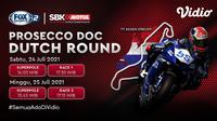 Live streaming Kejuaraan Dunia Superbike (WSBK) Seri Belanda 2021 akan berlangsung mulai hari ini, Jumat-Sabtu (24-25/07). (Sumber : dok. vidio.com)