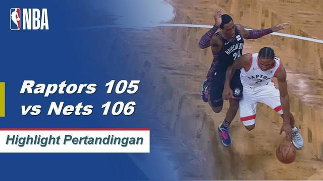 D'Angelo Russell mencetak 29 poin dan lima rebound ketika Brooklyn Nets mengalahkan Toronto Raptors pada perpanjangan waktu, 106-105.