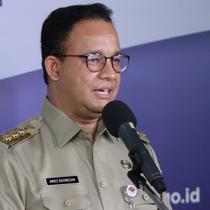 Di Graha BNPB, Jakarta, Senin (25/5/2020), Gubernur DKI Jakarta Anies Baswedan mengatakan perpanjangan PSBB DKI Jakarta hingga 4 Juni 2020 menjadi fase penentu masa transisi menuju New Normal. (Dok Badan Nasional Penanggulangan Bencana/BNPB)